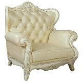 最もよい品質のホテルのロビーの家具高貴な様式の本革のソファー(156)
