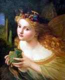 L'huile Painting-The Angel Personnes classique