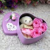 발렌타인 데이 곰을%s 가진 선물 상자 12 장미 비누 꽃에 있는 최신 판매 패킹