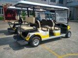 Aangepaste Kleur 4+2 Batterij In werking gesteld Golf Seater Met fouten met het Plastic Lichaam van de Techniek van pp voor Park