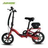 Mini rojo plegable bicicleta eléctrica para el adulto y niño