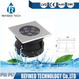 정연한 모양 9W IP67 LED 지하 빛 LED 정원 램프