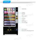 Combo npt máquina de venda automática de snacks e bebidas com casca preta