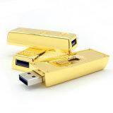 De waterdichte MiniSchijf van de Flits van de Staaf USB van de Aandrijving van de Pen USB Gouden