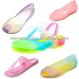 Three-Color ПВХ Crystal обувь, Net машины литьевого формования зерноочистки
