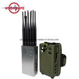 Portátil de 10 bandas Muti-Frequen Jammer, inhibidores de la señal de banda completa, 2G 3G 4G WIFI GPS Bloqueador celular, teléfono celular Jammer /Blocker