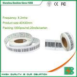 40*50мм EAS наклейки, мягкие наклейки, РЧ Tgs для сетей супермаркетов системы охранной сигнализации