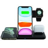 Dual 15W carregador sem fio,4 em 1 Wireless suporte de carga para iPhone se 2020/11 PRO Max/XS/Xr/X/8 Plus, Airpods PRO, a Samsung Galaxy S10/S9/S8,Samsung Watch,