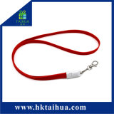 Fashionable Custom Logo Charging Cable USB Cell Phone Lanyard with Metal Hook