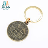Jiabo Bronce fundición de metal Logo 3D con llavero Llavero de aleación de zinc
