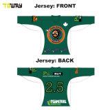 Diseño personalizado en blanco baratos camisetas de la práctica del hockey