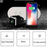 Neue drahtlose allgemeinhinaufladeeinheit2in1 qi-drahtlose schnelle Aufladeeinheit für iPhone schnelle drahtlose Aufladeeinheit für Handy-drahtlose Tischplattenaufladeeinheit für Iwatch