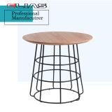 Кофейный столик, современным дизайном и деревянными кофейными таблица