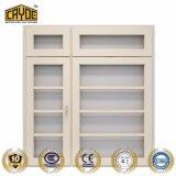 Ventana de diseño de aluminio parrillas de hierro Casement Window