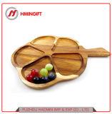 Настраиваемые формы из дерева акации в высококачественные закуски лоток пластину