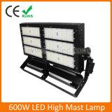 Mástil elevado LED Lámpara 400W/500W/600W/800W para el estadio al aire libre