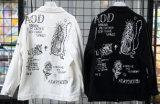 2018 Bovenkleding van het Jasje van het Denim van het Meisje van het Af:drukken van de Kleren van het Denim van de Vrouwen van de Laag van de Dames van het Jasje van de Cowboy Outwear van de Jasjes van het Denim van de Kleding van nieuwe Vrouwen de Witte Zwarte Korte Koreaanse Toevallige