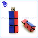 Cube magique de marque personnalisée de promotion de la forme du pilote USB à mémoire Flash