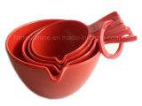 Conjunto de colher de medição de melamina vermelha