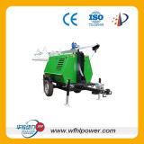 4つの車輪の移動式ディーゼル発電機セット
