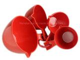 De rode het Meten van de Melamine Reeks van de Lepel