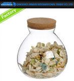 密封された台所食糧はコルクのふたが付いている記憶のガラス製品できる