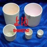 実験室のサンプルホールダーのための円柱Al2O3陶磁器のるつぼ鍋