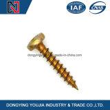 Transversal do aço inoxidável DIN7996 Recessed em volta do parafuso de madeira principal
