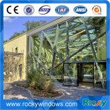 Profil en aluminium amélioré et supprimé les bavures de dureté pour les murs rideaux en verre