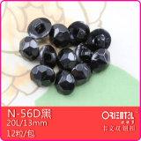Piccoli tasti di tibia di plastica della guglia (N-56Dblack)
