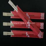 Semi-fermé et papier complet / Manche en plastique Twin Baguettes en bambou