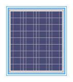 50W PV Solarpoly-/Monoverkleidung für Solarlichter und Lampe