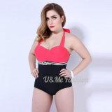 Fette Damen groß plus Größen-reizvollen Bikini-Einteiler-Badeanzug