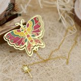 蝶形の卸売のためのカスタム金属の記念品のブックマーク