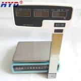 Escala dual 3-30kg de la visualización de la potencia LED/LCD de la alta exactitud