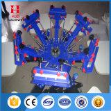 6 Farbe manueller Ratory Silk Bildschirm-Drucken-Maschinen-Preis