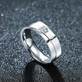 De Ring van de Mensen van de Aftrap van de Paren van de Kus van de Liefde van Zircon van het Staal van het titanium