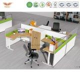 철사 관리 (H15-0824)를 가진 현대 사무용 가구 L 모양 사무실 분할