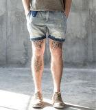 Pantaloni dei jeans degli uomini brevi di modo della fabbrica di sbiadisc sottile originale semplice di svago