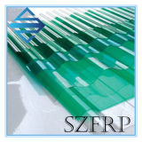 Hoja de techo transparente de fibra de vidrio corrugado