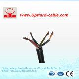 4 Kabel van de Macht van de kern Stevige VV, het Lage Voltage van de Kabel 4X6mm2 van pvc Vlv