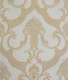 Papier peint profondément gravé en relief de damassé de modèle de l'Italie
