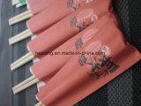 Novas mangas de papel em papel, pauzinhos de bambu descartáveis para sushi