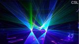 Luz de la demostración del laser del RGB de la viga de la animación de la alta calidad 1-20W