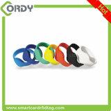 wristbands del silicón de 74m m 125kHz RFID para el adulto