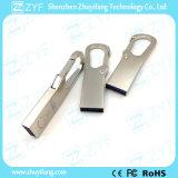Vara emaranhada de prata 3.0 do USB do gancho 8GB de Carabiner do metal (ZYF1740)