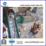 Enfardado semiautomático de la máquina para el centro de reciclaje de chatarra desechos balas