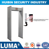 Medición de temperatura por infrarrojos detector de metales de la puerta de seguridad