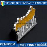 주문 2017 형식은 던지기 아연 합금 접어젖힌 옷깃 Pin를 정지한다