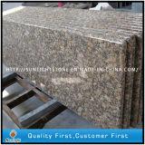 Controsoffitti di superficie solidi Bullnose pieni del granito di Giallo Fiorito per la cucina